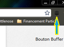 Bouton Buffer dans Google Chrome